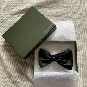 New Longchamp black bow tie